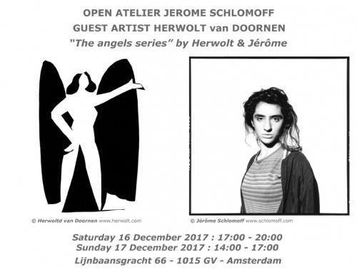 herwolt, van doornen, schlomoff, open atelier, guest artist, angels series